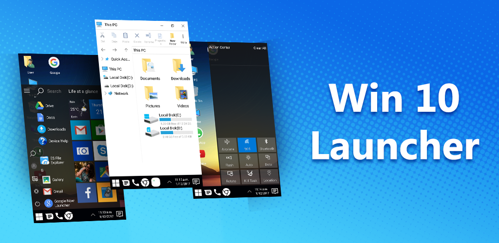 Win 10 Launcher for android phone and tablet