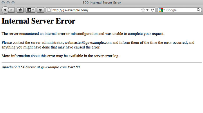 How to fix 500 internal server error