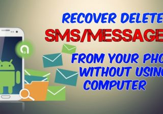 How to recover deleted text messages android without pc