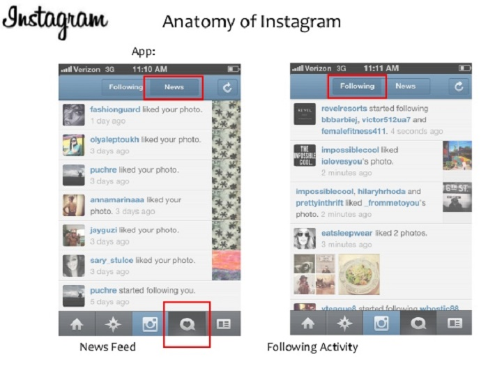 Delete the Instagram activity log
