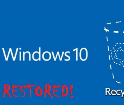 Restore recycle bin windows 10