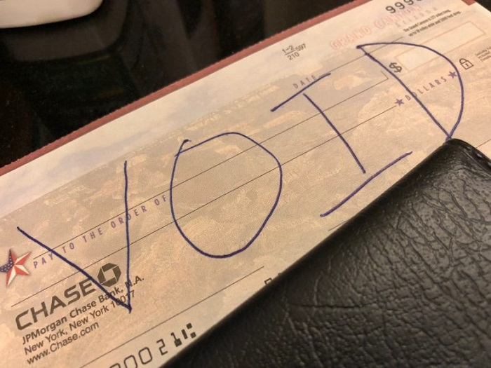 Void a Check