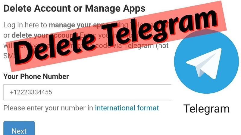 Delet Telegram Account