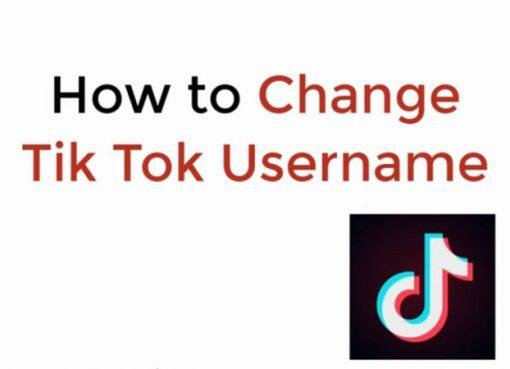 How to change tiktok username