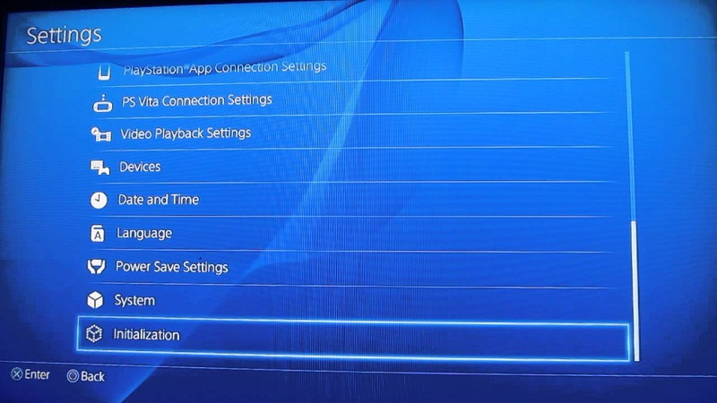 How to factory reset ps4