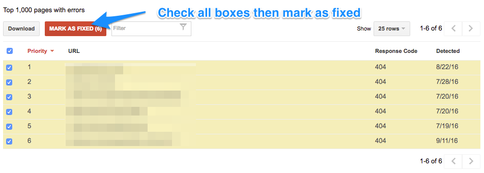 Remove a 404 error from Google Search Console