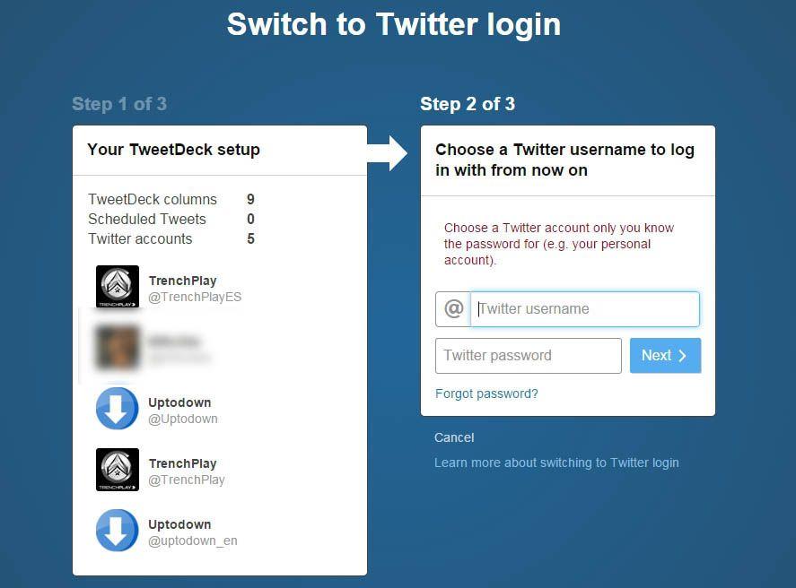 TweetDeck setup