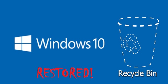 Restore recycle bin windows 10