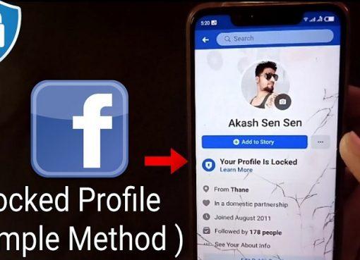 How to lock facebook profile?