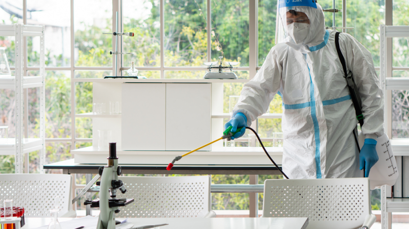 How to clean and disinfect laboratory equipment?