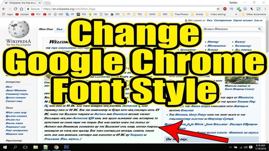 How to change the font of Google Chrome