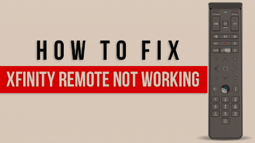 How to fix Xfinity Remote not working