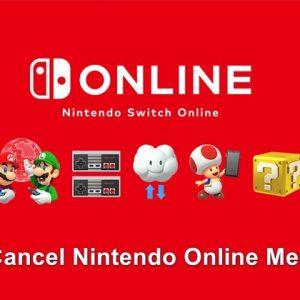 How to cancel nintendo online