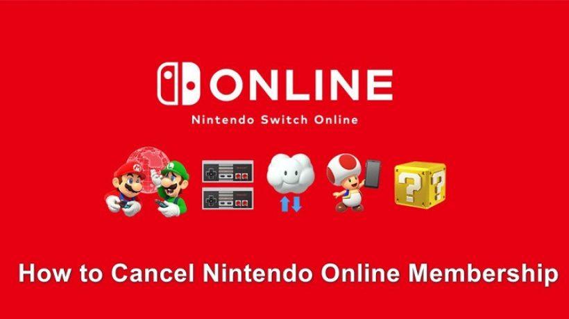 How to cancel nintendo online?
